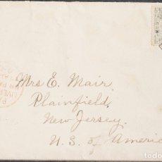 Sellos: LIBERIA. SOBRE YV 53. 1902. 5 CTVOS GRIS Y NEGRO. HARPER A PLAINFIELD (U.S.A.). MATASELLO HARPER /. Lote 183145346