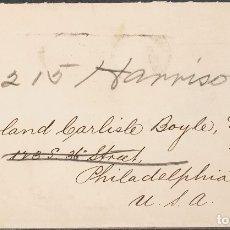 Sellos: LIBERIA. SOBRE YV 53. 1901. 5 CTVOS GRIS AZULADO Y NEGRO. MONROVIA A PHILADELPHIA (U.S.A.). MATASEL. Lote 183146067