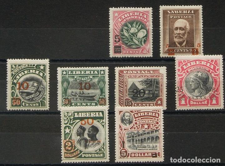 LIBERIA. MH *YV 119/26. 1916. SERIE COMPLETA, A FALTA DE LOS DOS PRIMEROS VALORES. MAGNIFICA. EDIFI (Sellos - Extranjero - África - Liberia)