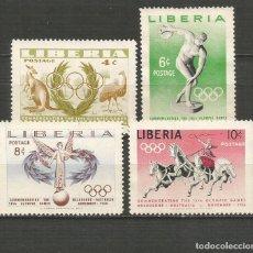 Francobolli: LIBERIA YVERT NUM. 336/339 SERIE COMPLETA NUEVA SIN GOMA. Lote 190461701