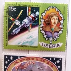 Sellos: LIBERIA, 2 SELLOS USADOS DIFERENTES. Lote 190571515