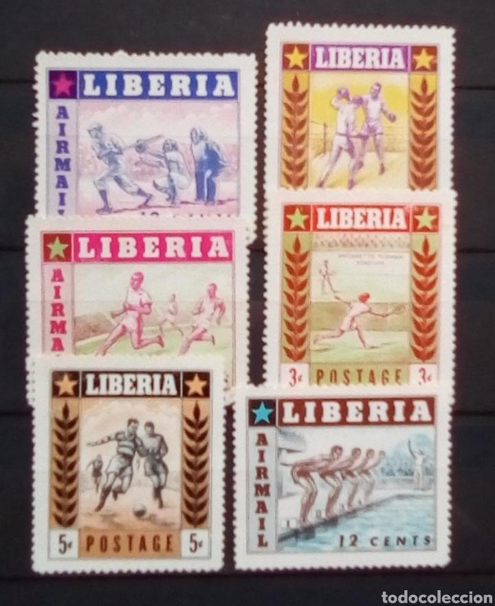 LIBERIA JUEGOS AFRICANOS SERIE DE SELLOS NUEVOS (Sellos - Extranjero - África - Liberia)