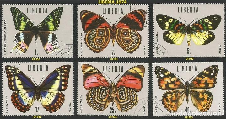 LIBERIA 1974 - LR 930 A 935 - 6 SELLOS NUEVOS - TEMA MARIPOSAS (Sellos - Extranjero - África - Liberia)