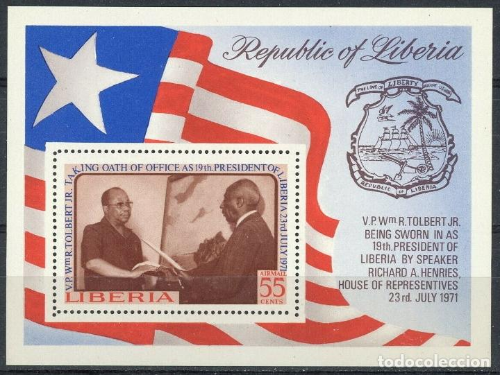 LIBERIA 1972 HB IVERT 62 *** PRESENTACIÓN DEL JURAMENTO DEL PRESIDENTE R. TOLBERT (Sellos - Extranjero - África - Liberia)