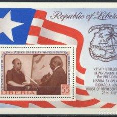 Timbres: LIBERIA 1972 HB IVERT 62 *** PRESENTACIÓN DEL JURAMENTO DEL PRESIDENTE R. TOLBERT. Lote 197726128