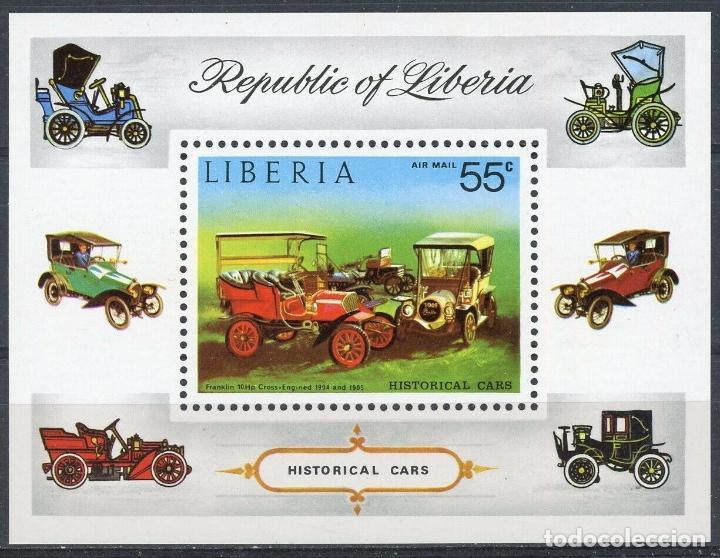 LIBERIA 1973 HB IVERT 67 *** AUTOMOVILES ANTIGUOS - COCHES (Sellos - Extranjero - África - Liberia)