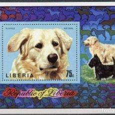 Sellos: LIBERIA 1974 HB IVERT 70 *** FAUNA - PERROS DE RAZA. Lote 197727956