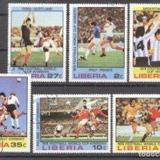 Sellos: LIBERIA 1978 FOOTBALL, SOCCER, USED AF.027. Lote 198273091