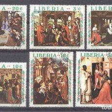 Sellos: LIBERIA 1970 PAINTINGS, RELIGION, USED AE.062. Lote 198273533