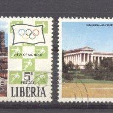 Sellos: LIBERIA 1971 SPORT, OLYMPICS, USED AE.067. Lote 198273543