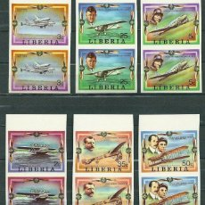 Sellos: LIBERIA 1978 AVIATION HISTORY X 2 IMPERF. MNH S.591. Lote 198273568