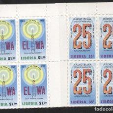 Sellos: LIBERIA 1979 RADIO ELWA X 4 MNH DA.106. Lote 198273578