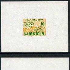 Sellos: LIBERIA 1964 SPORT OLYMPIC GAMES 3 X IMPERF MINIATURE SHEETS PROOFS MNH DA.095. Lote 198273587