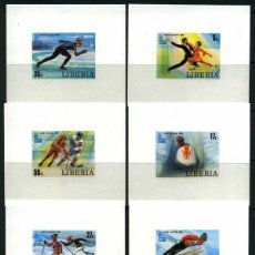 Sellos: LIBERIA 1980 SPORT, WINTER OLIMPICS, LACE PLACID, PROOFS SET, IMPERF. DELUXE SHEET, MNH AH.064. Lote 198273642