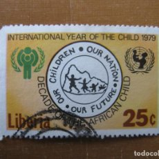 Sellos: LIBERIA 1979, AÑO INTERNACIONAL DE LA INFANCIA, YVERT 791. Lote 199064457