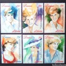 Sellos: LADY DIANA SERIE COMPLETA DE SELLOS NUEVOS DE LIBERIA. Lote 199205427