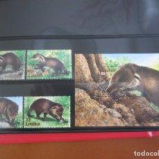 Sellos: LIBERIA 4 V. + HOJA BLOQUE WWF NUEVO. Lote 201126461