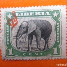 Sellos: LIBERIA 1906, ELEFANTE, SELLO DE SERVICIO SOBRECARGADO YVERT 45. Lote 201952806