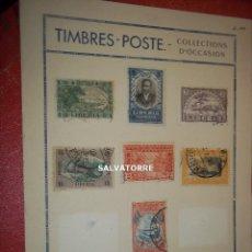 Sellos: SELLOS LIBERIA. AFRICA. 1920.POSTAGE.1.5.3.15.2.25.10.75. CENTS. MONROVIA.. Lote 202728387