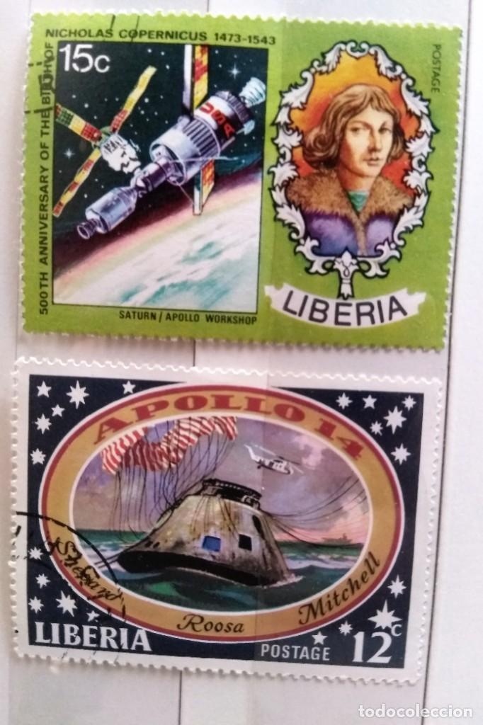 LIBERIA, 2 SELLOS USADOS DIFERENTES (Sellos - Extranjero - África - Liberia)
