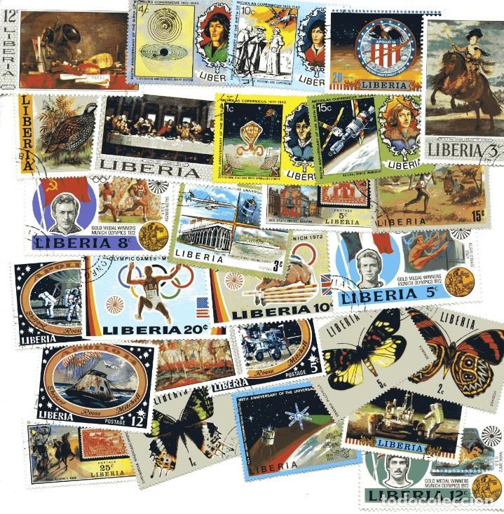 LOTE 27 SELLOS LIBERIA. AÑOS 70 (Sellos - Extranjero - África - Liberia)
