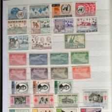 Sellos: LIBERIA, CLASIFICADOR CON SELLOS ( SERIES COMPLETAS) Y HOJAS BLOQUE, DISTINTAS ÉPOCAS. Lote 205189331
