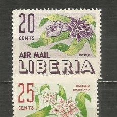 Sellos: LIBERIA CORREO AEREO YVERT NUM. 89/90 ** SERIE COMPLETA SIN FIJASELLOS. Lote 206337283
