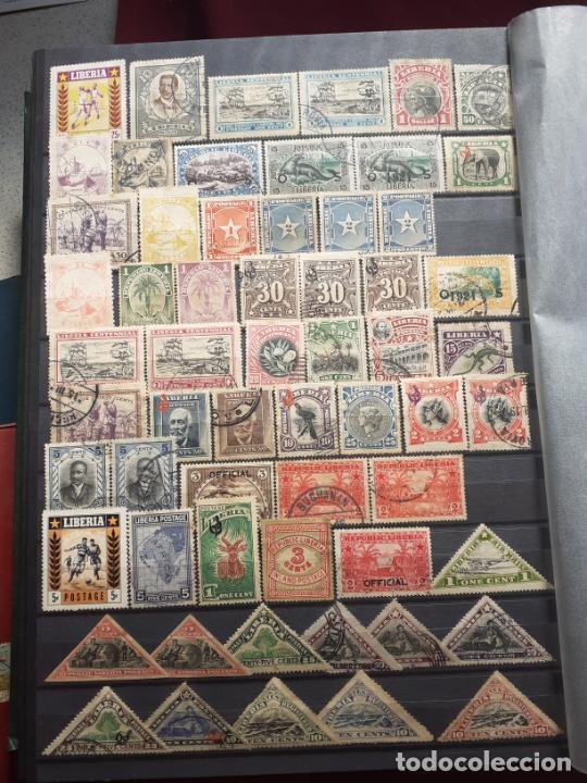 Sellos: Liberia. 190 sellos antiguos - Foto 3 - 206569406