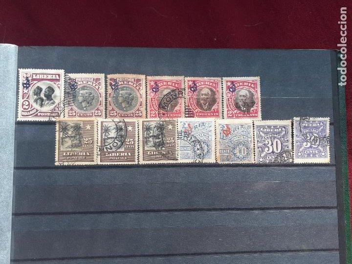 Sellos: Liberia. 190 sellos antiguos - Foto 4 - 206569406