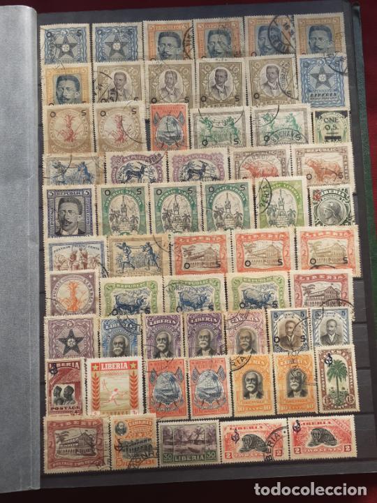 LIBERIA. 190 SELLOS ANTIGUOS (Sellos - Extranjero - África - Liberia)