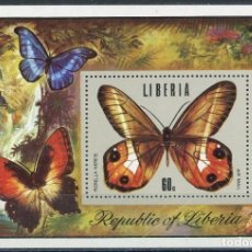 Sellos: LIBERIA 1974 HB IVERT 72 *** FAUNA - MARIPOSAS. Lote 207731941
