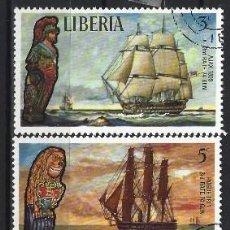 Sellos: LIBERIA 1972 - BARCOS ANTIGUOS , 5 VALORES - SELLOS USADOS. Lote 208063523