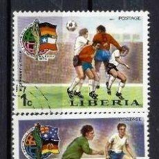 Sellos: LIBERIA 1974 - CAMPEONATO DEL MUNDO DE FÚTBOL, ALEMANIA , 5 VALORES - SELLOS USADOS. Lote 209772417