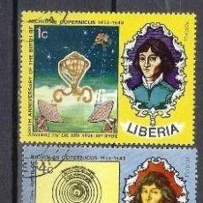 Sellos: LIBERIA 1973 - 5º CENTENARIO DEL NACIMIENTO DE COPÉRNICO , 5 VALORES - SELLOS USADOS. Lote 209772498