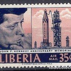 Sellos: LIBERIA 1966 - 3º ANIV. DEL ASESINATO DE JOHN F. KENNEDY - SELLO NUEVO **. Lote 209773835