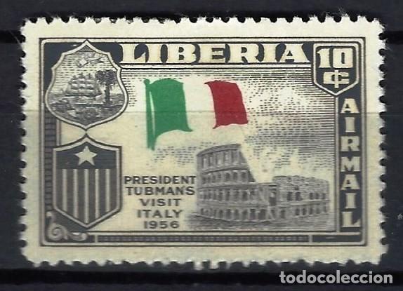 LIBERIA 1958 - VISITA DEL PRESIDENTE TUBMAN A EUROPA, ITALIA, AÉREO - SELLO NUEVO C/F* (Sellos - Extranjero - África - Liberia)