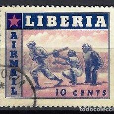 Francobolli: LIBERIA 1955 - DEPORTES, AÉREO - SELLO USADO. Lote 209775003