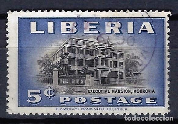 LIBERIA 1949 - PALACIO PRESIDENCIAL - SELLO USADO (Sellos - Extranjero - África - Liberia)