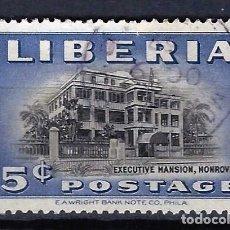 Timbres: LIBERIA 1949 - PALACIO PRESIDENCIAL - SELLO USADO. Lote 209775681