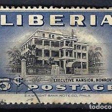Timbres: LIBERIA 1949 - PALACIO PRESIDENCIAL - SELLO USADO. Lote 209775711