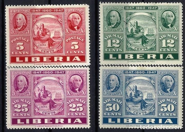 "LIBERIA 1947 - EXPO. INTERNACIONAL ""CIPEX"" EN N.YORK, S.COMPLETA - SELLOS NUEVOS C/F* (Sellos - Extranjero - África - Liberia)"