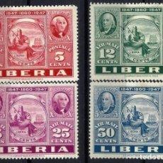 """Timbres: LIBERIA 1947 - EXPO. INTERNACIONAL """"CIPEX"""" EN N.YORK, S.COMPLETA - SELLOS NUEVOS C/F*. Lote 209775876"""