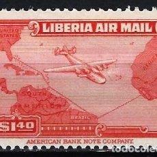 Francobolli: LIBERIA 1942-44 - CORREO AÉREO - SELLO NUEVO C/F*. Lote 209778640