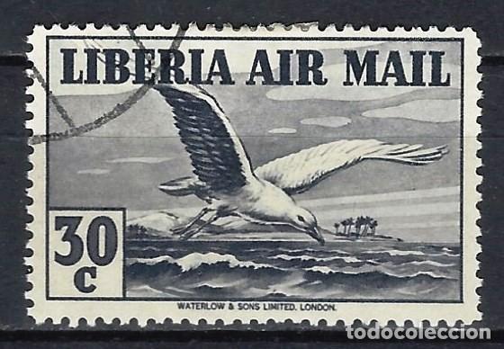 LIBERIA 1938 - CORREO AÉREO, FAUNA, AVES, GAVIOTA - SELLO USADO (Sellos - Extranjero - África - Liberia)