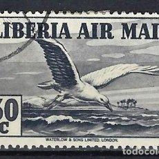 Timbres: LIBERIA 1938 - CORREO AÉREO, FAUNA, AVES, GAVIOTA - SELLO USADO. Lote 209779100