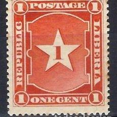 Timbres: LIBERIA 1892 - MOTIVOS NACIONALES - CIFRA - SELLO NUEVO C/F*. Lote 209783835