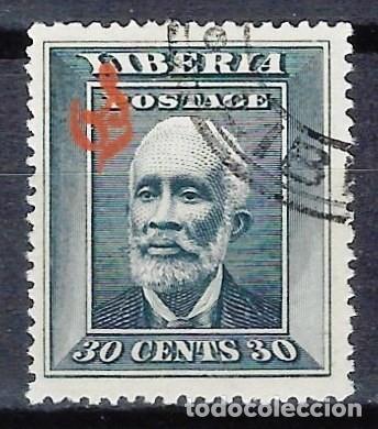 LIBERIA 1909 - SELLO OFICIAL, SOBREIMPRESO O S - PRESIDENTE A. BARCLAY - SELLO USADO (Sellos - Extranjero - África - Liberia)