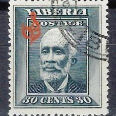 Francobolli: LIBERIA 1909 - SELLO OFICIAL, SOBREIMPRESO O S - PRESIDENTE A. BARCLAY - SELLO USADO. Lote 209785828