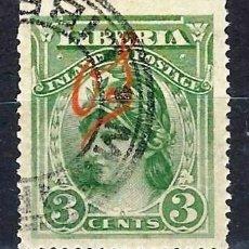 Sellos: LIBERIA 1903 - SELLO OFICIAL, SOBREIMPRESO O S - LIBERTAD - SELLO USADO. Lote 209786426