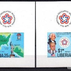 Sellos: LIBERIA 726/27 HB** - AÑO 1976 - BICENTENARIO DE LA INDEPENDENCIA DE ESTADOS UNIDOS. Lote 217717822